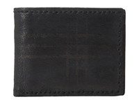 John Varvatos Plaid Printed Slim Fold Wallet Black Wallet Handbags