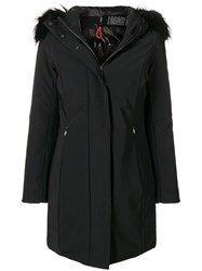 Rrd Fur Hood Down Coat Black