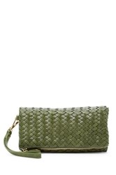 Urban Expressions Dixie Faux Leather Wristlet Clutch Green