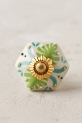 Anthropologie Sea Petal Knob Blue