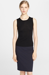 Oscar De La Renta Cashmere And Silk Shell Black