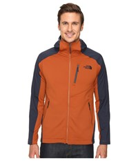 The North Face Tenacious Hybrid Hoodie Gingerbread Brown Urban Navy Men's Sweatshirt