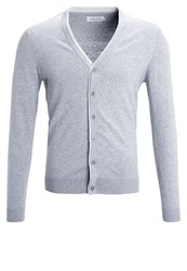 Pier One Cardigan Light Grey Melange Mottled Light Grey