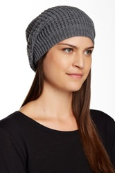 14Th And Union Waffle Slouchy Beanie Gray