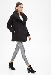 Forever 21 Boxy Double Breasted Coat