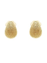 Monet Gold Texture Mini Clip Earrings Gold