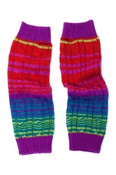 Muk Luks Candy Coated Cable Armwarmers Multi