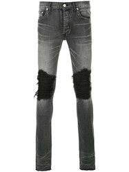 Fagassent Ripped Skinny Jeans Cotton Polyurethane Grey