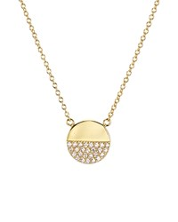 Aqua Sterling Silver Pave Circle Pendant Necklace 16 100 Exclusive Gold