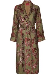 F.R.S For Restless Sleepers Floral Embroidered Robe Coat Gold