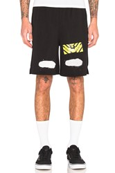 Off White Diag Spray Mesh Shorts Black