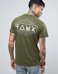 Friend Or Faux Limitless Back Print T Shirt Green