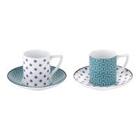 Ted Baker Espresso Cup And Saucer Set Of 2 Ancona Ii