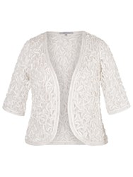 Chesca Cornelli Embroidered Lace Bolero Ivory