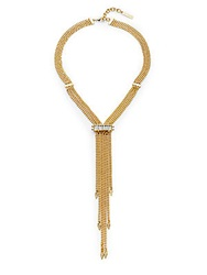 Vince Camuto Glam Punk Gold Plated Chain Fringe Necklace