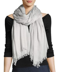 Rag And Bone Buckley Striped Scarf With Fringed Edges Light Gray