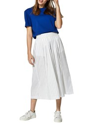 Selected Femme Raika Cropped Wide Leg Trousers Bright White