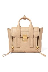 3.1 Phillip Lim Pashli Mini Textured Leather Shoulder Bag Beige
