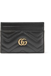 Gucci Gg Marmont Quilted Leather Cardholder Black Usd