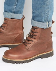 Shoe The Bear Walker Warm Leather Lace Up Boots Brown