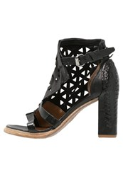 A.S.98 Panda High Heeled Sandals Nero Black
