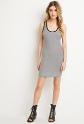 Forever 21 Striped Racerback Dress Cream Black