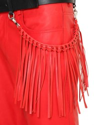 Cnc Costume National Costume National 40Mm Leather Belt And Fringed Pocket Chain
