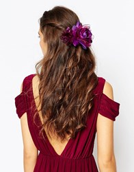 Asos Winter Rose Multiway Hair Or Body Corsage Plum