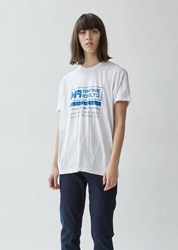 Martine Rose Wobbly Seams Jersey Logo T Shirt White