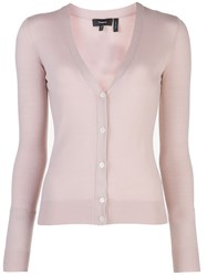 Theory Button Down Cardigan Pink