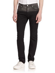 Helmut Lang Two Tone Slim Fit Jeans Black Grey