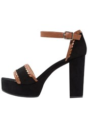 Unisa Valena High Heeled Sandals Black Walnut