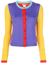 Alice Olivia Ruthy Colour Block Cardigan Blue