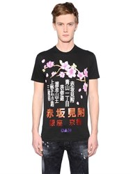 Dsquared Japanese Printed Cotton Jersey T Shirt