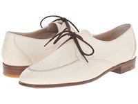 Gravati Mou Calf Apron Toe Oxford With Contrast White Women's Lace Up Casual Shoes