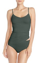 Nordstrom Women's Lingerie Two Way Seamless Camisole Green Gables