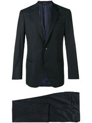 Giorgio Armani Tailored Suit Jacket Blue