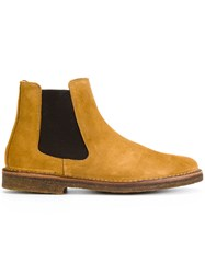 Astorflex Stretch Panel Ankle Boots Men Leather Suede Rubber 41 Brown