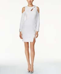 Guess Lila Cold Shouler Snap Dress White Alyssum
