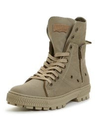 Levi's Canvas Sahara Hi Top Boots Men's Shoes