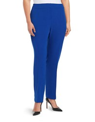 Nipon Boutique Plus Kristy Crepe Straight Leg Pants Celeste