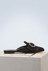 Dolce And Gabbana Jackie Mules Black