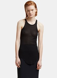 Rick Owens Ribbed Knit Tank Top Black
