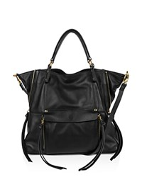 Kooba Everette Leather Satchel Black Gold