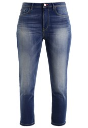 H.I.S Coletta Slim Fit Jeans Advanced Medium Blue Wash Blue Denim