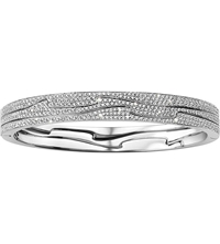 Georg Jensen Fusion 18Ct White Gold And Diamond Bangle