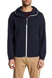 Kenneth Cole Hooded Chest Pocket Jacket Blue