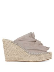 Kenneth Cole Odele 2 Suede Wedge Espadrilles Mauve