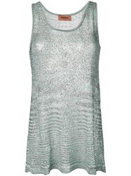 Missoni Sequin Embroidered Tank Top Neutrals
