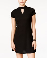Material Girl Juniors' High Neck Flare Dress Only At Macy's Black